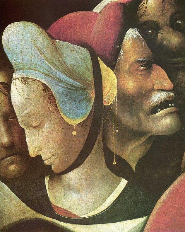 Hyeronimus Bosch: Purtarea Crucii (detaliu).