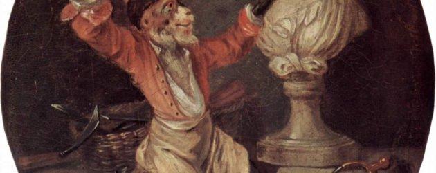 Le singe sculpteur - Antoine Watteau