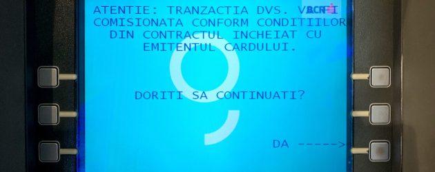 bancomat comision retragere